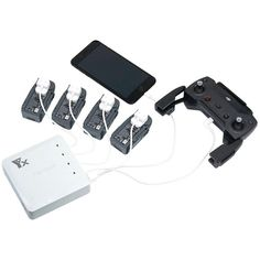 6 In 1 Multi Battery Dual USB Remote Controller Phone Charger Hub Parallel For DJI Spark Drone #PhoneCharger