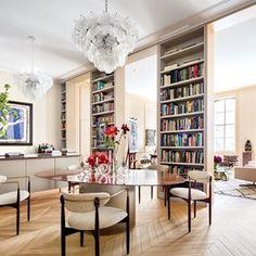 In the New York City loft of architect Steven Harris and interior designer Lucien Rees Roberts | www.bocadolobo.com #bocadolobo #luxuryfurniture #exclusivedesign #interiodesign #designideas #livingroom #designproject