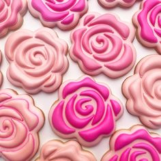Stop and smell the roses...especially cookie roses. #decoratedcookies #cookiedecorating #sugarcookies #flowercookies #roses #rosecookies #stopandsmelltheroses