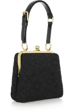 Dolce & Gabbana Miss Agata ayers-trimmed lace shoulder bag