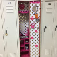 Pretty pink decorated locker