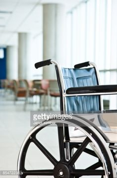 Stock-Foto : A wheelchair in a hospital or nursing home.