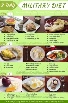 3 day Military Diet - Lose 10 Pounds in Just 3 Days #MilitaryDiet,