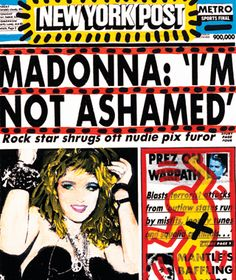Madonna NY Post cover by Keith Haring