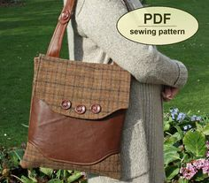 Sewing pattern to make the Rural Correspondent Bag - PDF pattern INSTANT DOWNLOAD