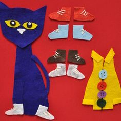 Pete the Cat Flannel Boards for Pete the Cat and His Four Groovy Buttons & Pete the Cat: I Love My White Shoes
