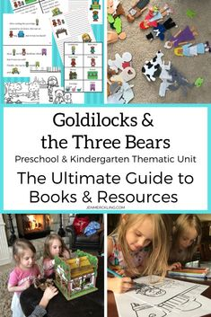 Create the perfect Goldilocks and the Three Bears Unit! Add fun & hands-on learning to build language & reading skills! Ideas, Books, & Resources for Preschool & Kindergarten! #preschool #kindergarten #homeschool #thematicunit #goldilocks #goldilocksandthethreebears #handsonlearning #activelearning #learnthroughplay #readalouds #printables