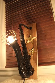 Buy Folk Style Saxophone Light Fixture by industrialighting. Explore more products on http://industrialighting.etsy.com