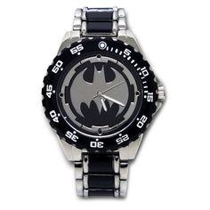 Batman Logo Watch with Black Metal Bracelet Band BAT8025 >>> Click image to review more details. (Note:Amazon affiliate link)