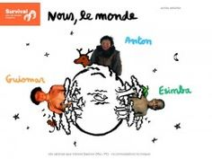 site pédagogique pour les 7-12 ans créé par Survival France pour découvrir les peuples indigènes.