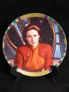 When it comes to strong female characters I'm not sure anybody beats Kira (except Captain Janeway, of course).  Star Trek Deep Space 9 Commemorative collectors plate Kira for sale by SciFiTastic on Etsy.