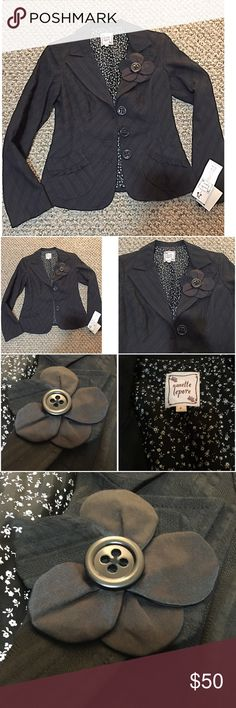 Nanette Lepore black jacket NWT Nanette Lepore black fully lined jacket . New , never worn tags on. Size 4. No flaws. Flower brooch can come off if needed. Nanette Lepore Jackets & Coats Blazers
