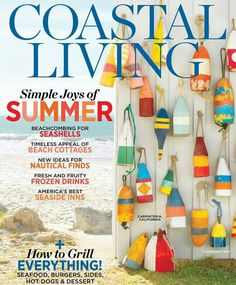 Items similar to Handmade Vintage Style Wood Buoys .Custom For You! As featured on Coastal Living Cover on Etsy Interior Design Styles Quiz, Seaside Inn, Coastal Living Magazine, Beachfront House, Frozen Drinks, Field Guide, Coastal Homes, Beach Cottages, Home Office Decor