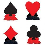 4 casino vegas alice in wonderland party mini decorations card suit playmates Casino Party Decorations, Casino Theme Parties, Party Centerpieces, Party Themes, Centrepieces, Party Ideas, Theme Ideas, Decor Ideas, Table Decorations
