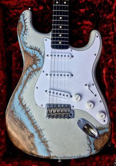Palir USA Custom Stinger Color Over Color Distressed Electric Guitar & G&G Case #Palir
