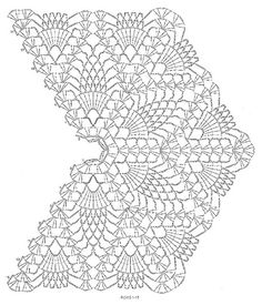 Amazing Crochet Lace, Blue Curacao Shawl, stitch diagram Rows 1-15
