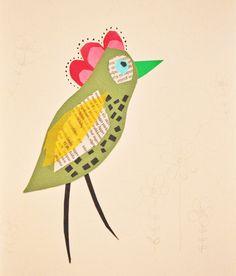 Paper bird by Anna Berger