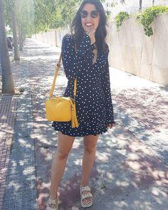 "399 Me gusta, 21 comentarios - África//EstiloSinDerroche (@estilosinderroche) en Instagram: ""A coger la semana con energía 💪  Mono #zara    Sandalias @penelopecollection93    Bolso #mango .…"""