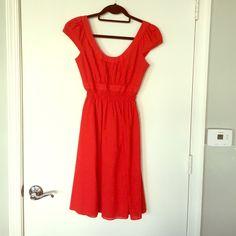 Red Calvin Klein dress 100% cotton Calvin Klein dress Calvin Klein Dresses Midi