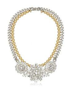 Courtney Lee Swarovski Crystal & Swarovski Pearls Fiona Necklace