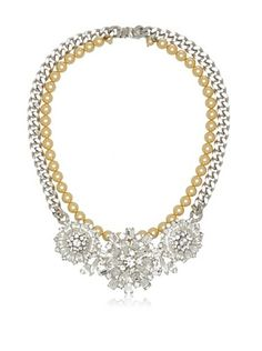 60% OFF Courtney Lee Swarovski Crystal & Swarovski Pearls Fiona Necklace
