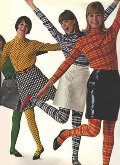 Colleen Corby Aug Matching print tops and tights. Colleen Corby Aug Matching print tops and tights. 60s And 70s Fashion, Retro Fashion, Trendy Fashion, Vintage Fashion, Womens Fashion, 70s Hippie Fashion, 60s Fashion Trends, Sporty Fashion, Punk Fashion