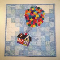 Ok partner, I'm so sorry it's a day late, but it's in the mail and on it's way to you! I so hope you enjoy it! Quilting Board, Quilting Ideas, Quilt Patterns, House Quilts, Baby Quilts, Disney Crafts, Disney Art, Disney Up House, Sewing Ideas