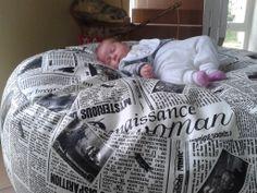 Kristina a novinový bag