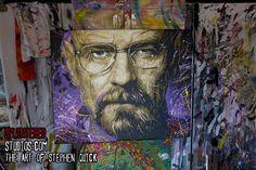 Breaking Bad Painting, Walter White Art Work - Splintered Studios - The Art of Stephen Quick