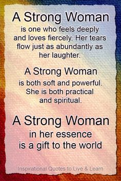Strong women now how to love...