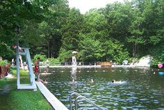 Summer day trip for families from NYC - Highlands Natural Pool Summer In Nyc, Spray Park, Nyc With Kids, Travel Trailers For Sale, Swimming Holes, Water Slides, Cool Pools, Beach Trip, Day Trips