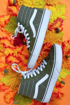 Celebrate the first day of fall in the Winter Moss Sk8-Hi.