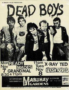 Dead Boys flyer