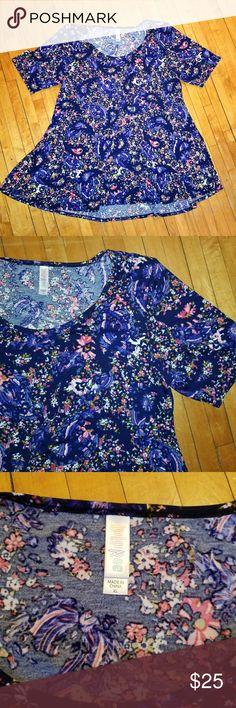 I just added this listing on Poshmark: LuLaRoe Perfect T - Blue Floral & Paisley Print. #shopmycloset #poshmark #fashion #shopping #style #forsale #LuLaRoe #Tops