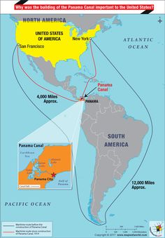 Panama Canal On World Map : panama, canal, world, Panama, Canal, Ideas, Canal,, Panama,