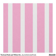 Vertical Pink and White Striped Fabric Pink Bedroom For Girls, Little Girl Rooms, Striped Nursery, Little Linda, Custom Printed Fabric, Striped Curtains, Color Picker, The White Stripes, Color Box
