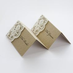 lace name tags--- diy with doily that matches invite?