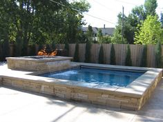 This is a spool...a pool/spa...perfect for small backyards. Just enough to cool off in summer, heat up in winter, all while serving cocktails!!!