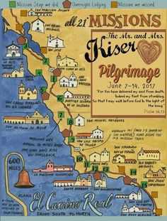 This is the Pilgrimage we took to the California Missions.  What a trip!