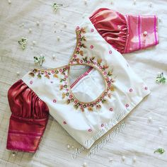 Blouse Back Neck Designs, Kids Blouse Designs, Wedding Saree Blouse Designs, Hand Work Blouse Design, Simple Blouse Designs, Silk Saree Blouse Designs, Stylish Blouse Design, Blouse Neck, Blouse Designs Catalogue