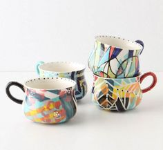 abstract coffee mugs I collect - anthropologie