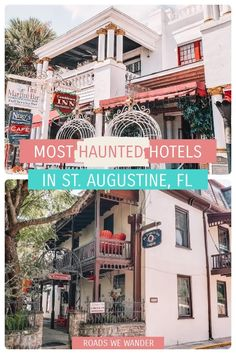 Looking for haunted places to stay in St. Augustine, Florida? If you want the chance to have a spooky experience, check out these three hotels! Even if you don't encounter one of the resident ghosts, you'll have a great stay at one of these highly rated hotels! Haunted Hotel, Haunted Places, Disney World Planning, Disney World Vacation, Visit Florida, Florida Travel, Elite Hotels, Us Travel Destinations, Disney World Tips And Tricks