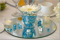 Gerber daisy wedding center piece