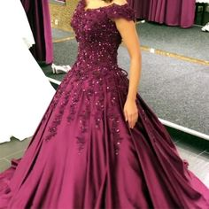 Plus Size Prom Dress, Charming Ball Gown Prom Dress, Cap Sleeve Appliques Beaded Evening Dress, Formal Dress Shop plus-sized prom dresses for curvy figures and plus-size party dresses. Ball gowns for prom in plus sizes and short plus-sized prom dresses Pageant Dresses For Teens, Classy Prom Dresses, Straps Prom Dresses, Elegant Bridesmaid Dresses, Ball Gowns Prom, Plus Size Prom Dresses, Formal Evening Dresses, Ball Dresses, Homecoming Dresses