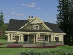 images about Ian   house designs on Pinterest   Craftsman    A wonderful front covered porch adorns this bedroom Craftsman style home  House Plan