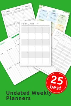 Undated Weekly Planners template help you to be more efficient and keep track of everything in one place. Choose the right layout and start scheduling your daily routine in a smart way. Download in PDF and print easily at home or office, or use with Notability, Goodnotes, Noteshelf and Xodo for your iPad or Android tablet. #week #planner #template #calendar #sheet