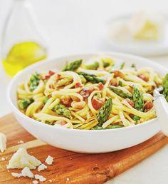 Špagety carbonara jednoduše a chutně | Recepty Albert Linguine Carbonara, Italian Recipes, Italian Foods, Spaghetti, Food And Drink, Ethnic Recipes, Kids, Noodle