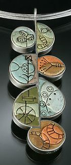 Mary and Lou Ann: polymer & sterling silver