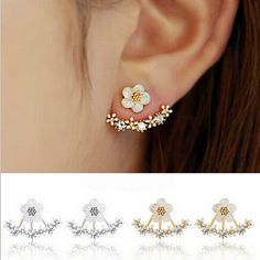 Cheap crystal earrings for sale, Buy Quality earrings discount directly from China crystal skull earrings Suppliers: Crystal Stud Earrings for Women Boucle d'oreille Femme 2016 Fashion Flower Earrings for Women Gold Bijoux Femme Jewelry
