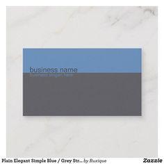 Plain Elegant Simple Blue / Grey Stripe Business Card #businesscard #businesssolution #businessidentity #simplebusinesscard #elegantbusinesscard #bluebusinesscard